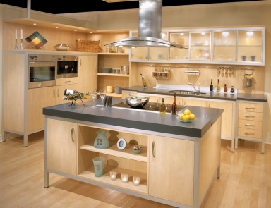 Set For The Kitchen With Stone Top Contemporary Comp. 25, Neff Kitchens.