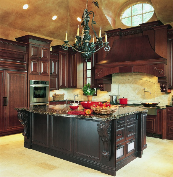 Set For The Kitchen From Wood With Traditional Carving
