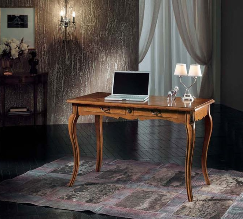 Writing Desk with curved legs in a classic style, Mirandola Export ...