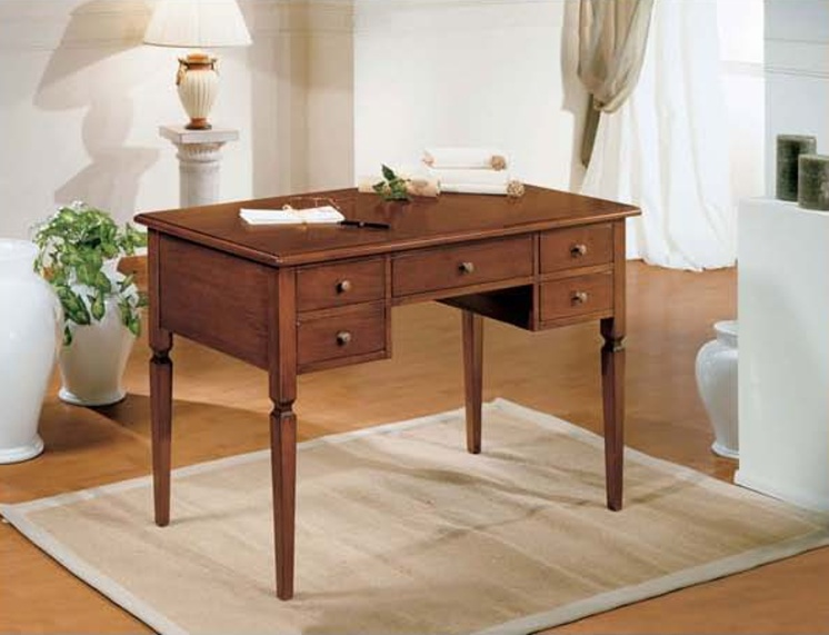 Writing Desk with five drawers in a classic style, Mirandola Export ...