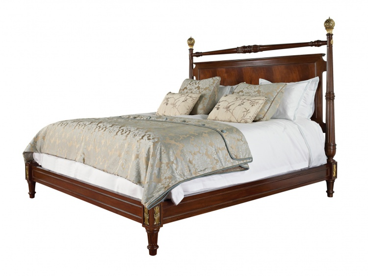 Double bed with high headboard, Maitland-Smith