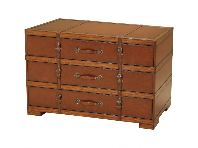 Dresser with vintage leather decor, Maitland-Smith
