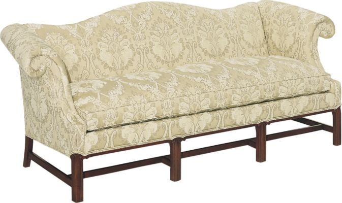 Sofa The Mahogany Frame With High Legs Chippendale