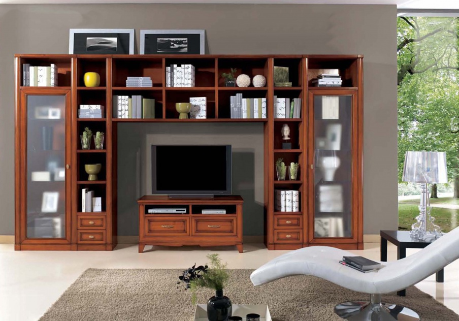 Modular Cabinet with cabinets and space for TV, Mirandola Export ...