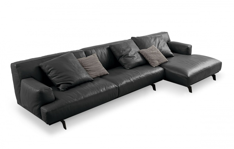 Modular sofa with metal legs Tribeca, Poliform