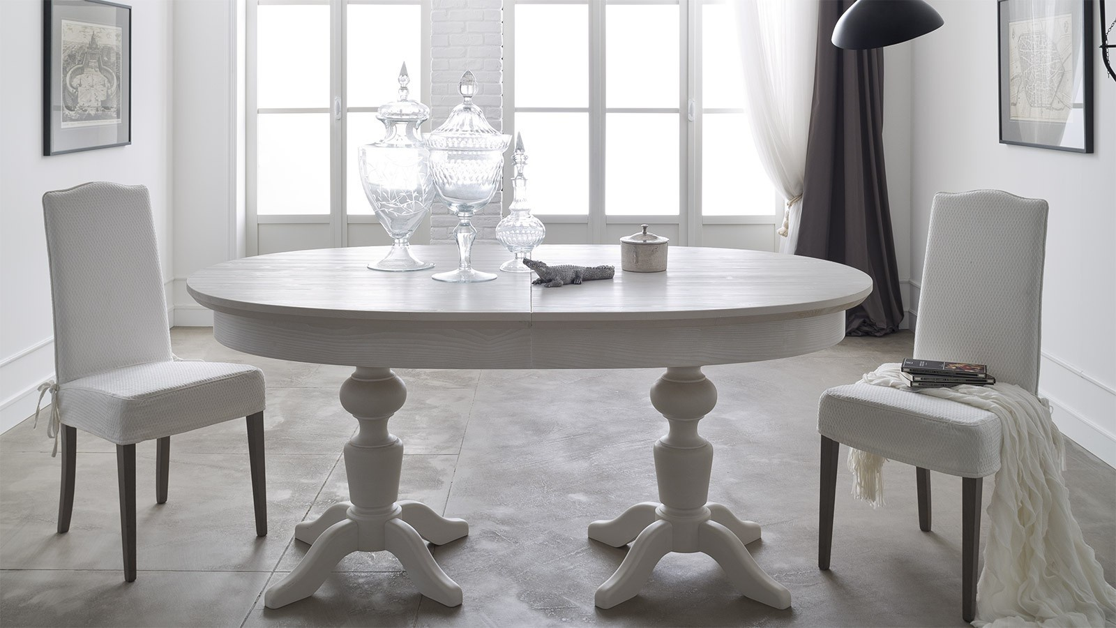 Oval Table Wooden Ovale In A Classic Style Callesella Luxury