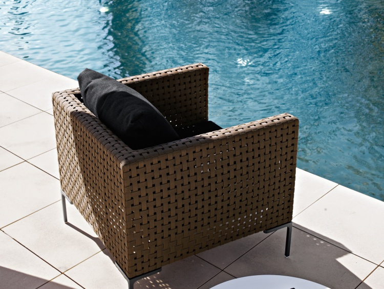 Chair with metal legs, Charles Outdoor armchair - B & B Italia