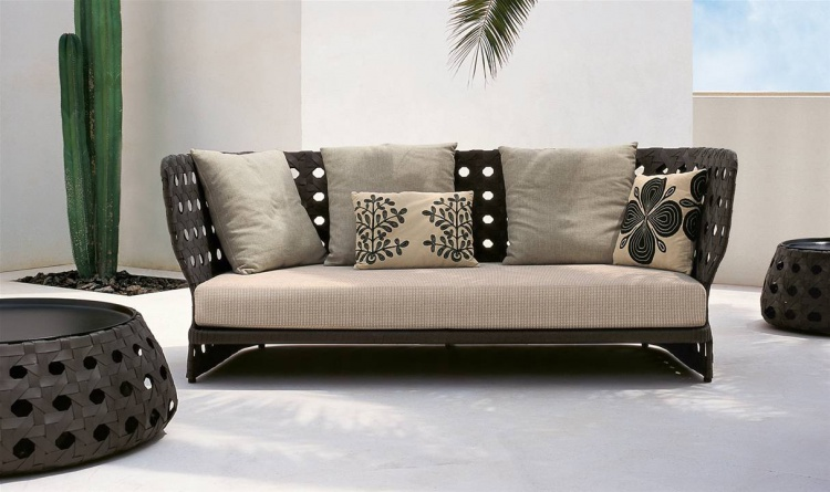 Sofa for the garden or terrace Canasta B&B Italia