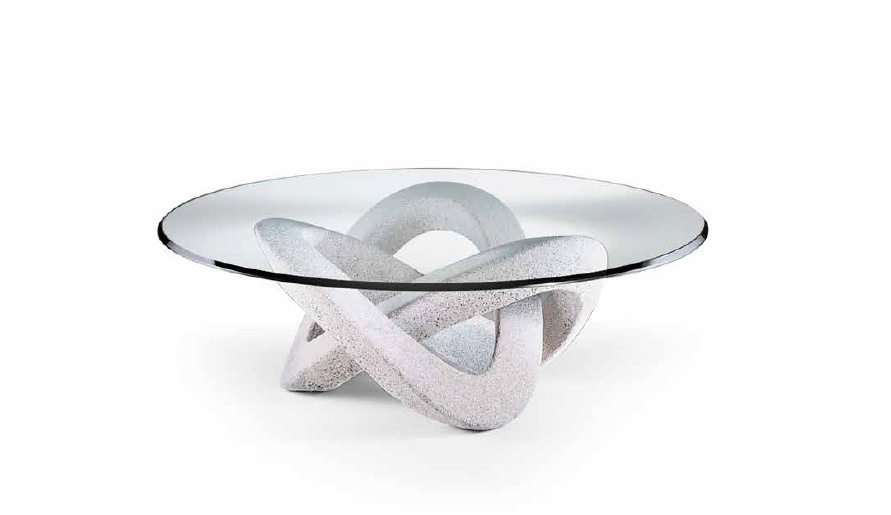 Round Coffee Table With Glass Top 40 Andromeda Reflex Angelo Luxury Furniture Mr
