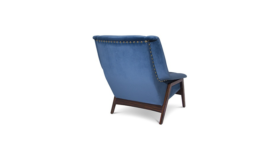 A Chair Made From Wood With Inca Barhatnoe Upholstery