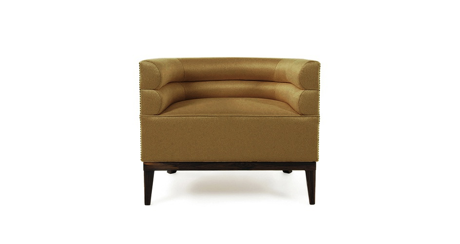Armchair With A Wide Seat Maa With Legs Made Of Ebony