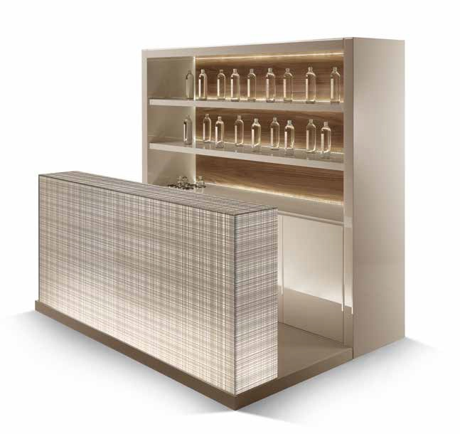 Cabinet With Bar Counter Lined With Glass Avantgarde Bar