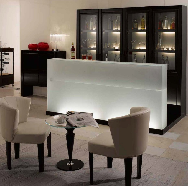 A bar Cabinet with a rack on a frame of wood Avantgarde Bar Special ...
