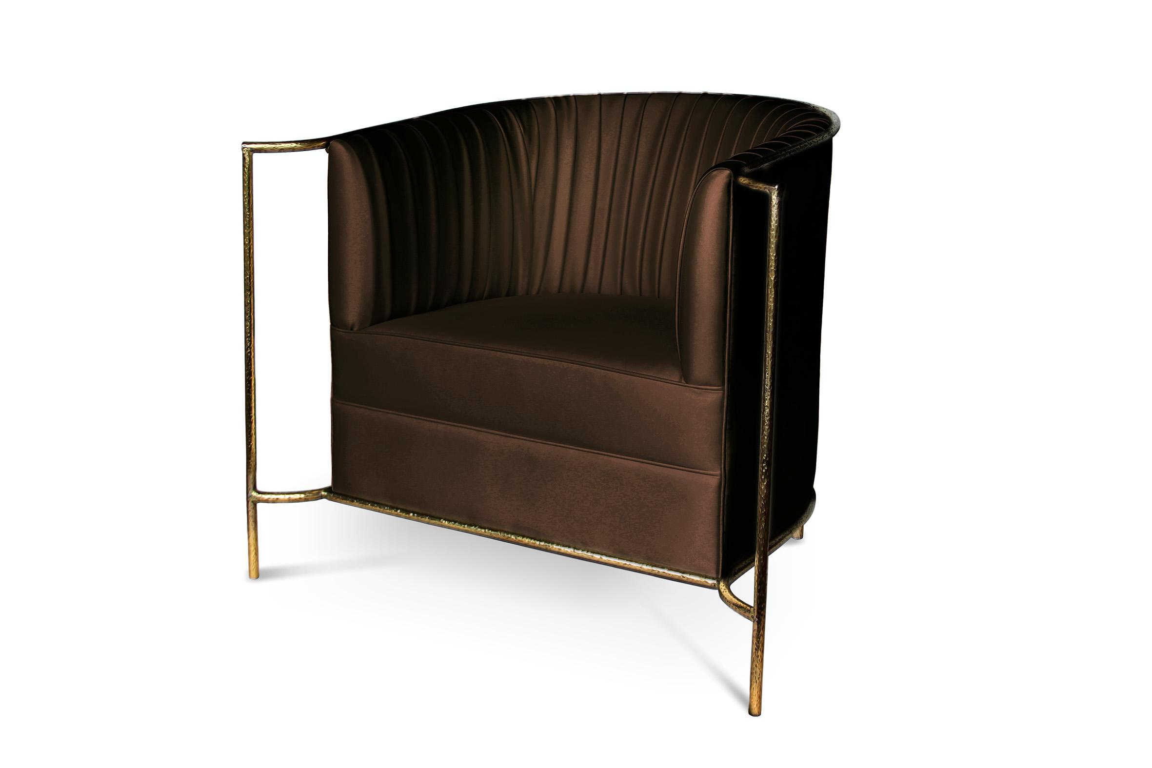 Chair With Gold Trim And Satin Upholstery Desire Koket
