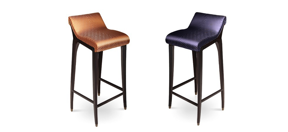 Bar Chair Lacquered Upholstered Incanto Koket Luxury