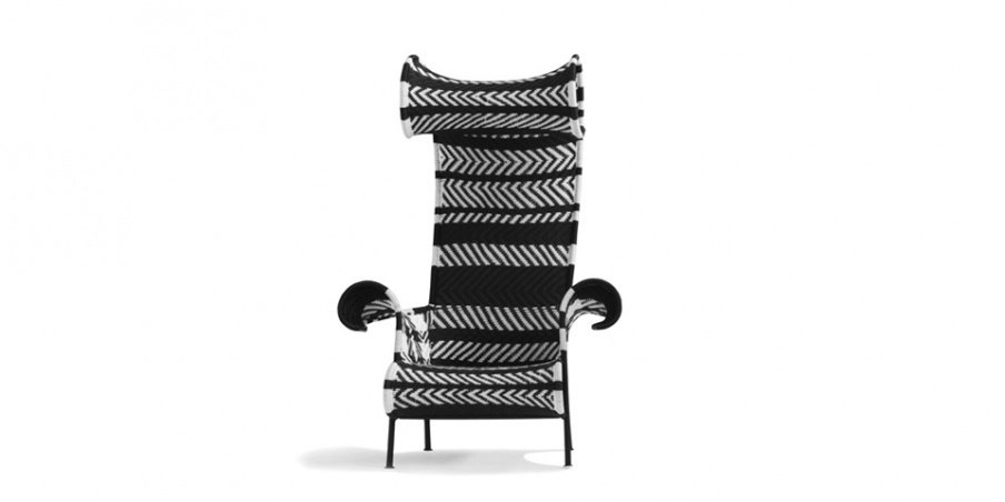 Chair Of Woven Plastic Threads Shadowy, Moroso