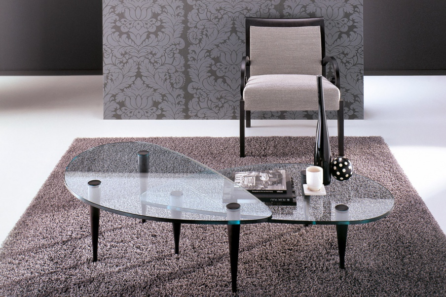 Coffee table with glass top, Hago - Porada