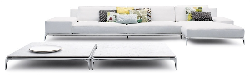 Modular Sofa In Leather Textile Upholstery Park Poliform