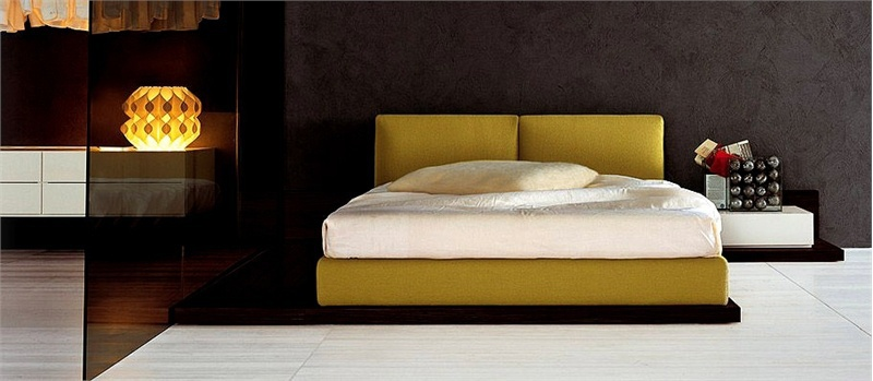 Double Bed With Upholstered Headboard People B Pianca