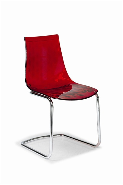 Chair Made Of Technopolymer With Steel Legs On Ice, Calligaris