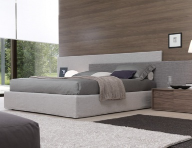 Double bed with upholstered base and headboard, MYLOVE - JESSE