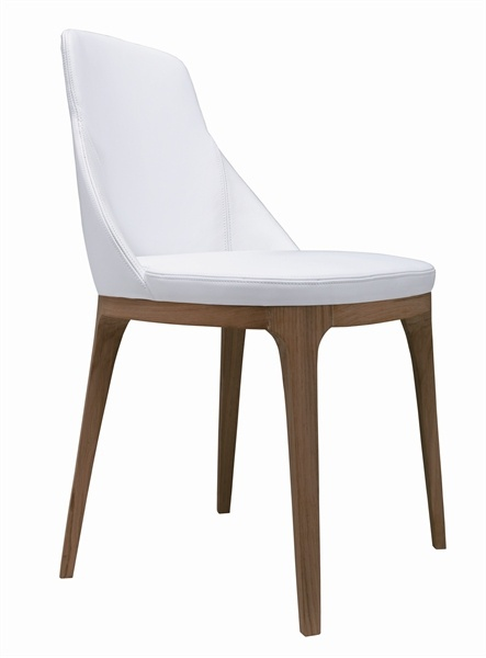 The chair with the frame made of solid oak upholstered in leather or fabric Lucy Lema